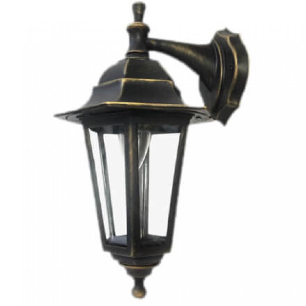 Градинска лампа Бари аплик Класик долен или горен носач с прозрачно стъкло