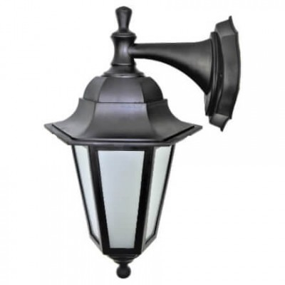 Градинска лампа Бри аплик Класик долен и горен носач матирано стъкло