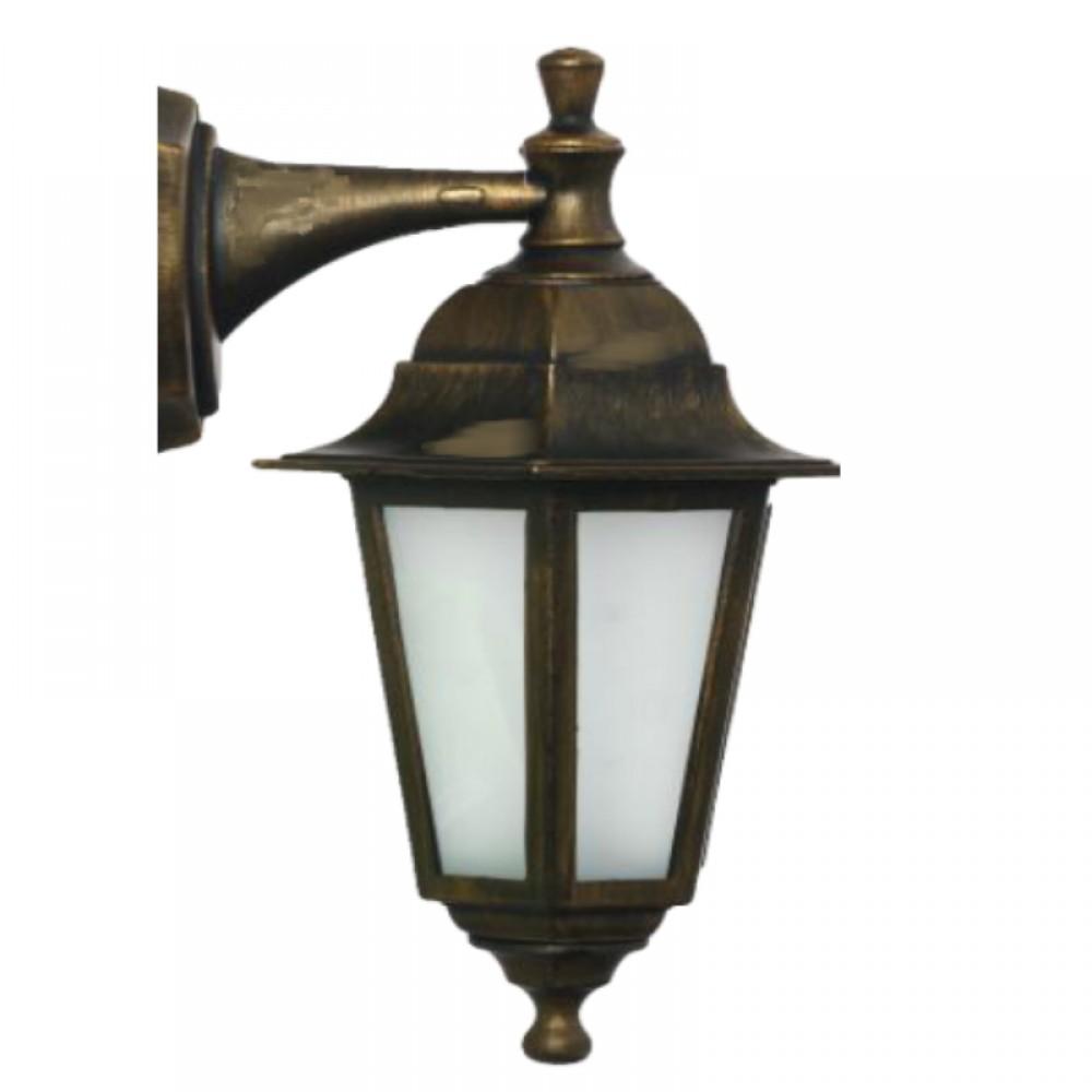 Градинска лампа Бари Класик долен и горен носач матирано стъкло