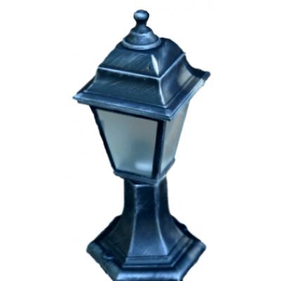 Градински фенер Silver Retro стоящ матирано стъкло 40 cm