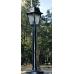Градински фенер Silver Retro  стоящ  матирано стъкло 77 cm
