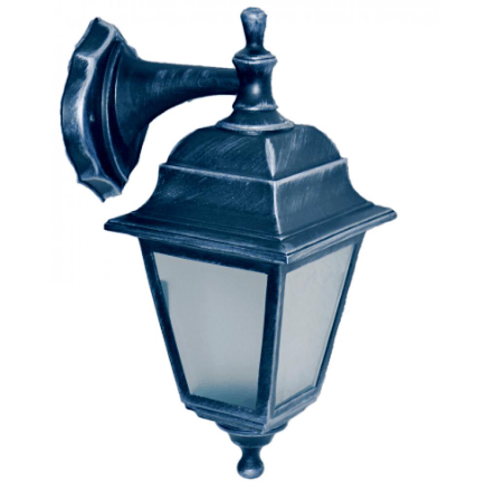 Градински фенер Silver Retro  долен или горен носач матирано стъкло