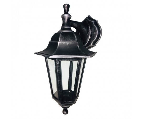 Градинска лампа Silver аплик Класик долен или горен носач с прозрачно стъкло