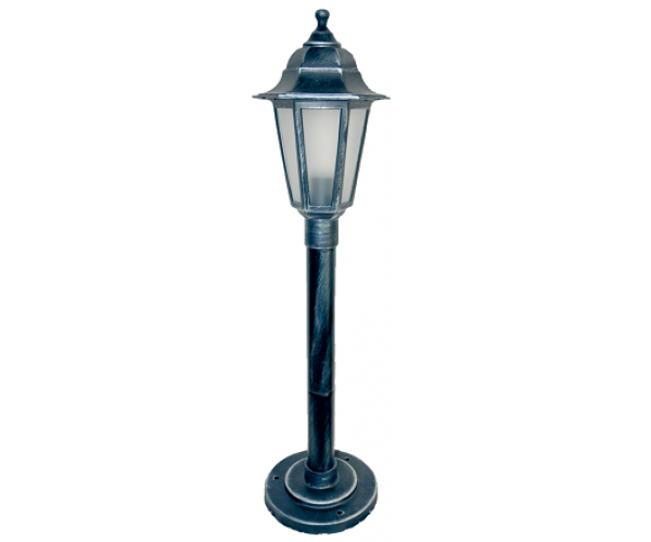 Градински фенер Silver Класик стоящ матирано стъкло 77 cm