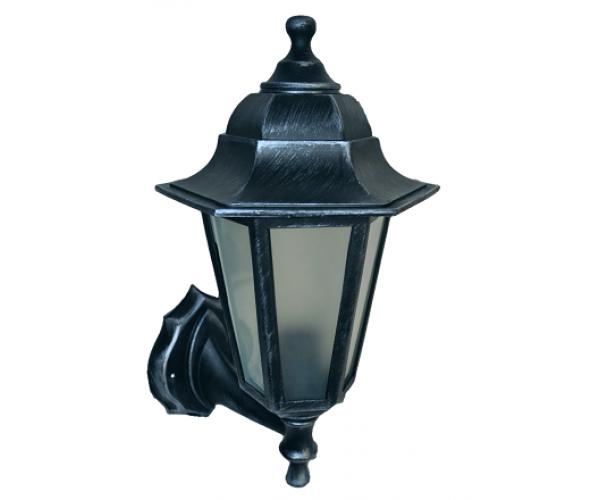 Градинска лампа Silver аплик Класик долен или горен носач с матирано стъкло