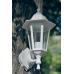 Градинска лампа White аплик Класик долен или горен носач с прозрачно стъкло