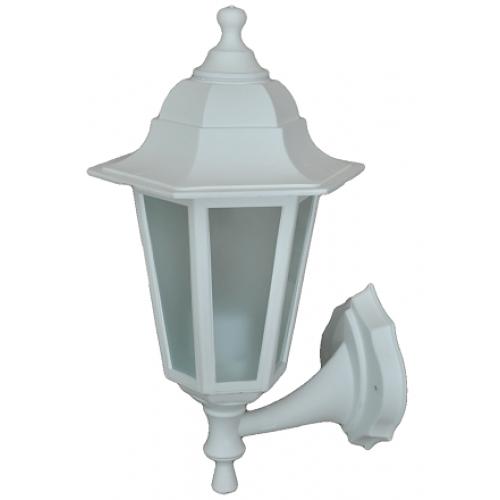 Градинска лампа White аплик Класик долен или горен носач с матирано стъкло